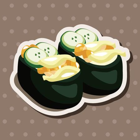 Sushi theme elements Vector