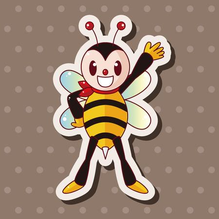cute bee: bee cartoon theme elements