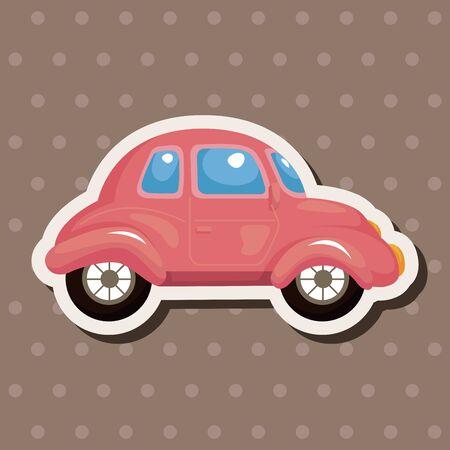 theme: transportation car theme elements Illustration
