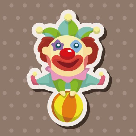 clown cirque: clowns �l�ments th�matiques Illustration