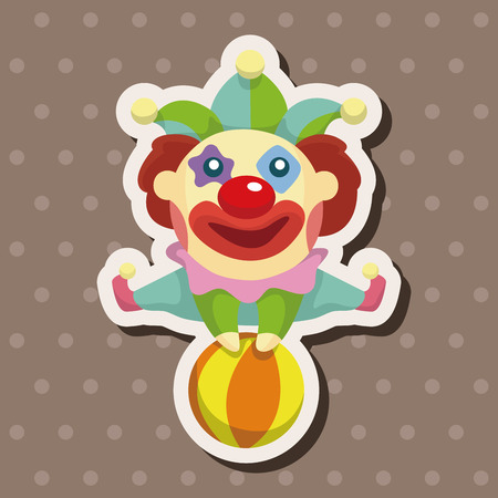 children face: clowns theme elements