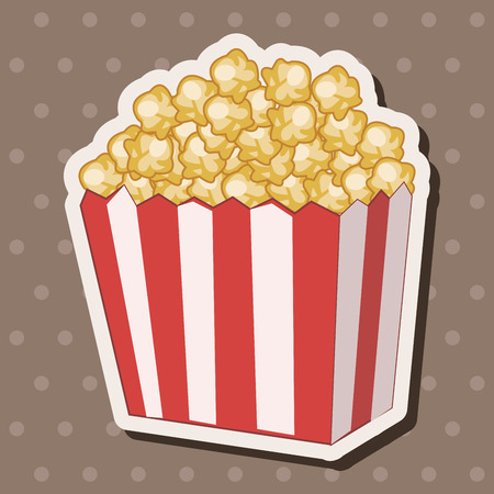 corn: pop corn theme elements