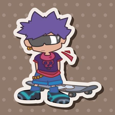 skater boy: Skater boy theme elements