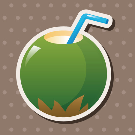 coco: coconut drink theme elements