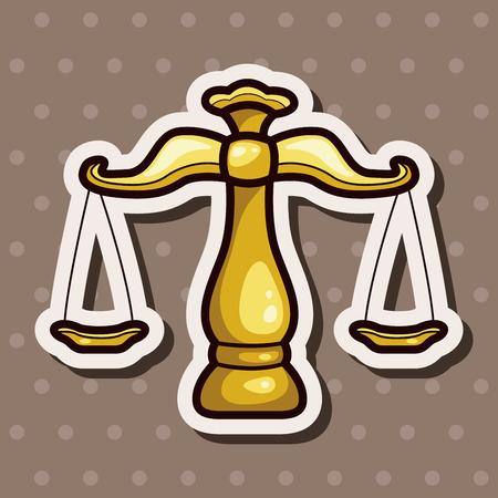 trial balance: legal balance theme elements Illustration
