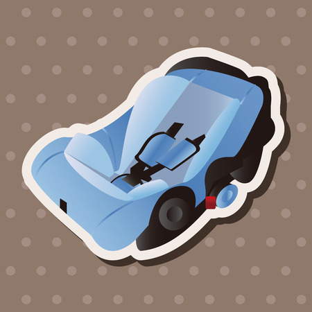 Baby Safety Seat theme elements Vector