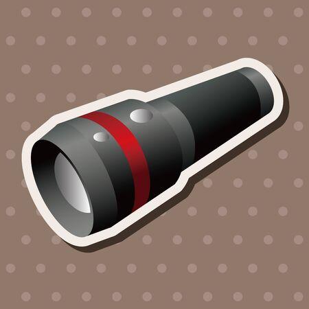 flashlight: camping flashlight theme elements