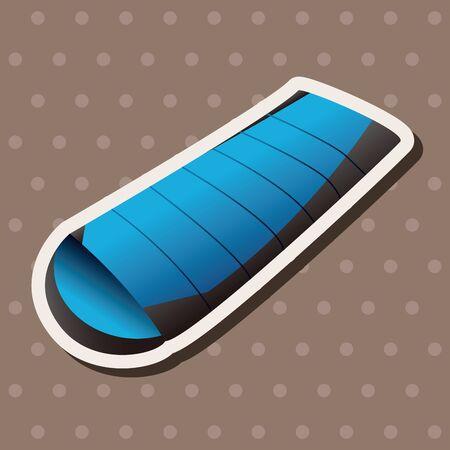 sleeping bag: camping sleeping bag theme elements