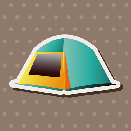 camping tent: camping tent theme elements Illustration