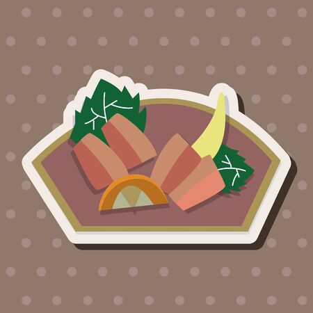 sashimi: Japanese food sashimi theme elements Illustration