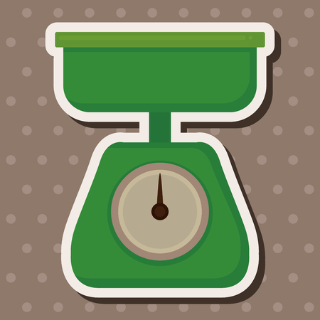 counterbalance: kitchenware weight scale theme elements Illustration
