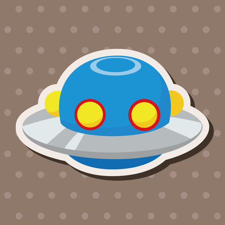 invaders: Space ufo theme elements