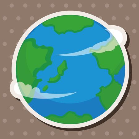 우주 지구 테마 요소
