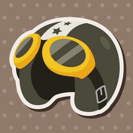 flight helment theme elements Ilustração