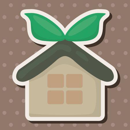 kassen: Bescherming van het milieu concept van thema-elementen; kassen; green house Stock Illustratie