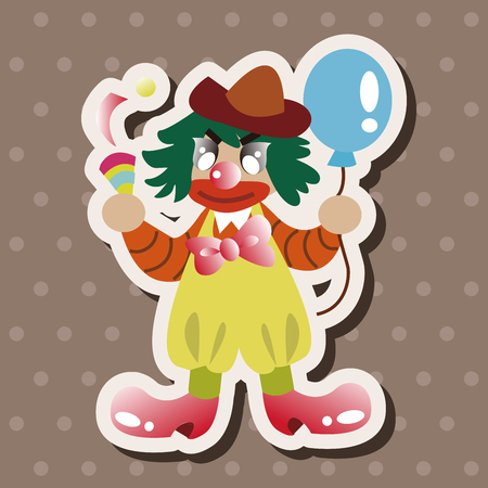 comedian: circus clown theme elements Illustration