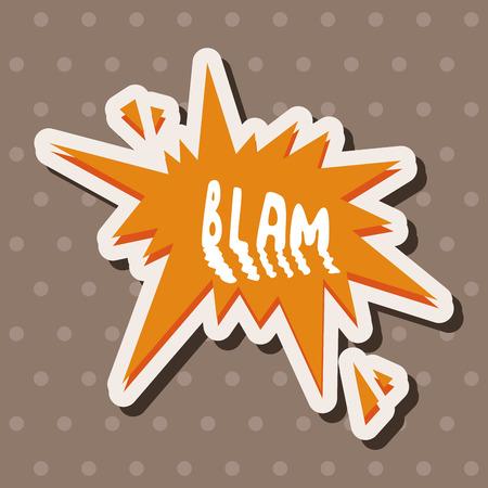 message word blam theme elements Vector