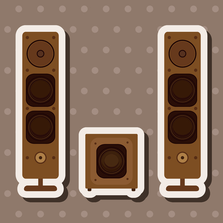 stereo speakers theme elements Illustration