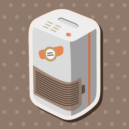 Dehumidifiers theme elements Illustration