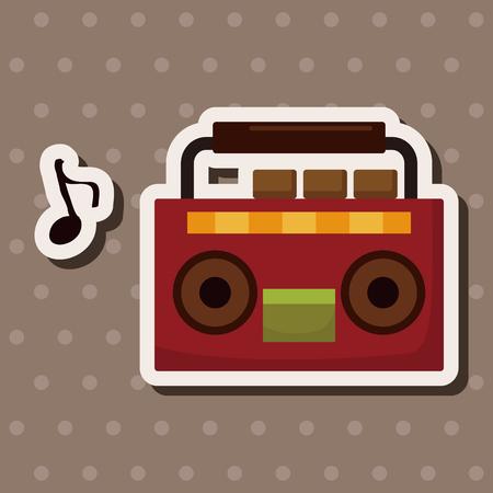 speakers: stereo speakers theme elements Illustration