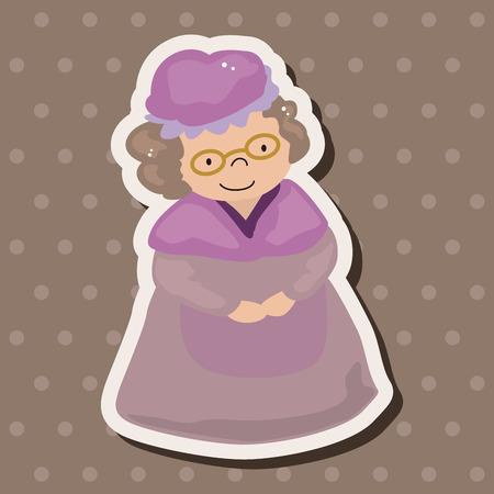 little red riding hood: grandmom in piccoli riding rosso elementi cappuccio a tema