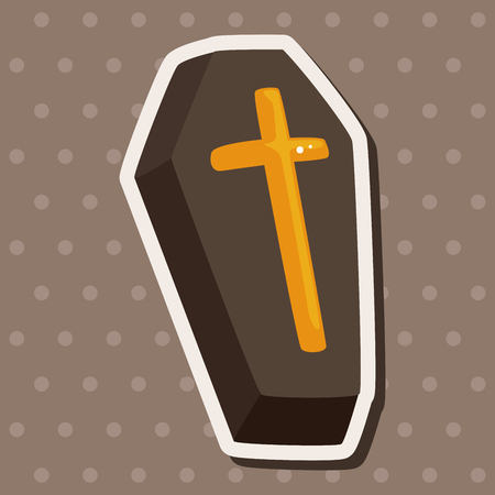 decomposition: coffin theme elements Illustration
