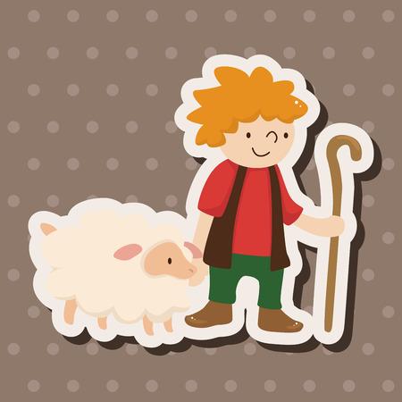 pastor de ovejas: Elementos temáticos Pastor
