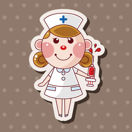 nurse uniform: nurse theme elements
