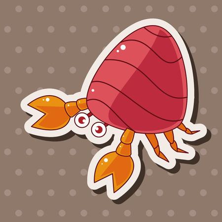 crabs: Hermit crabs theme elements