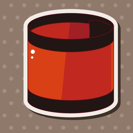 equipment: hockey equipment theme elements Illustration