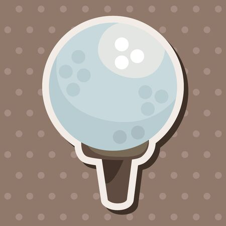 the equipment: golf equipment theme elements Illustration