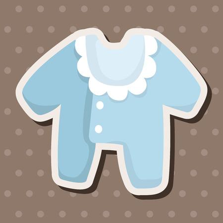 ropa de beb�: Ropa de beb� elementos tem�ticos