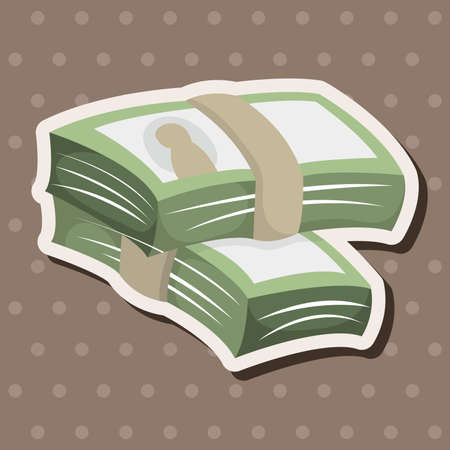 paper currency: Financial money cash theme elements