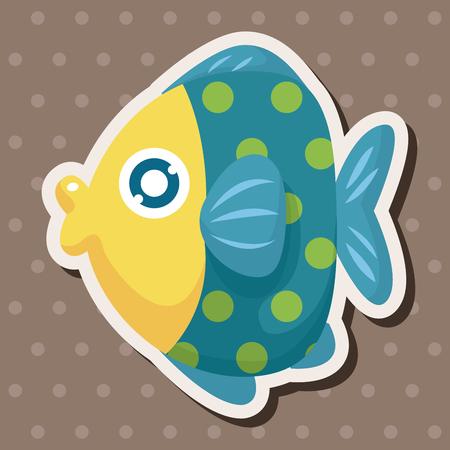 sea animal: sea animal fish cartoon theme elements