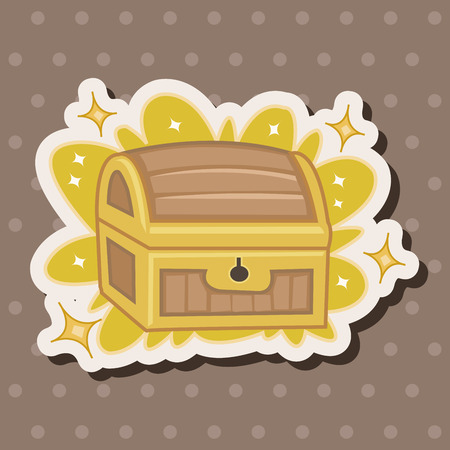 treasure chest: treasure theme elements
