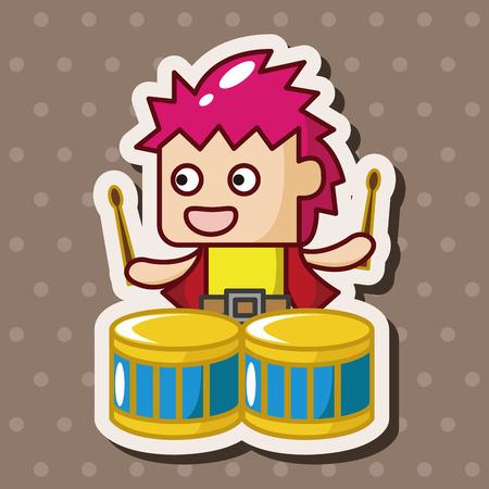 drummer: band member drummer theme elements