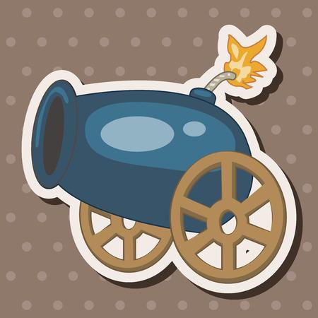 cannon theme elements Vector