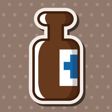 medical bottle: medical bottle theme elements