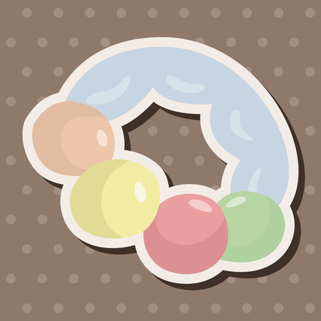 baby toy: baby toy theme elements Illustration