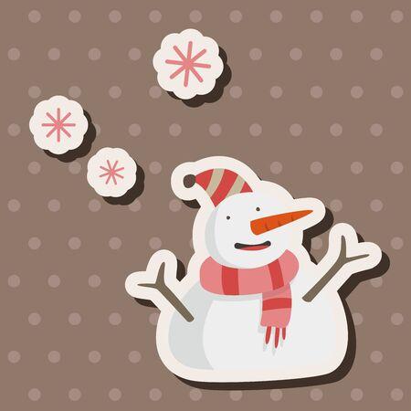 snowy: weather snowy theme elements Illustration