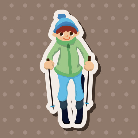skiers: Skiers theme elements