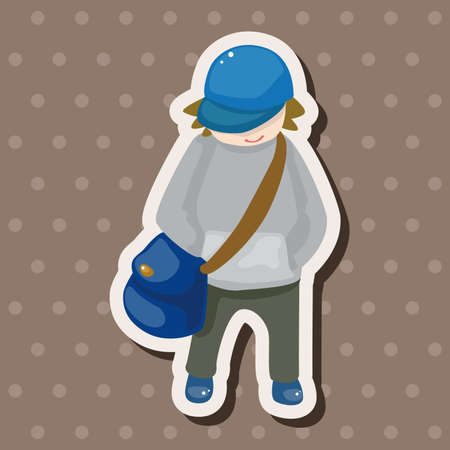 travelling person theme elements Vector