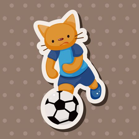 doing: Animal doing sports cartoon theme elements
