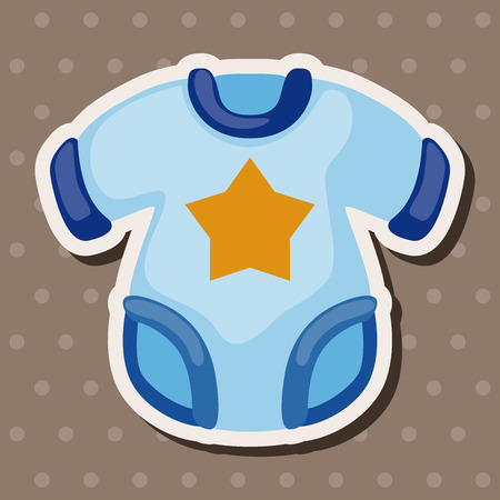 baby clothes: Baby clothes theme elements Illustration