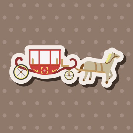 Carriage theme elements Vector
