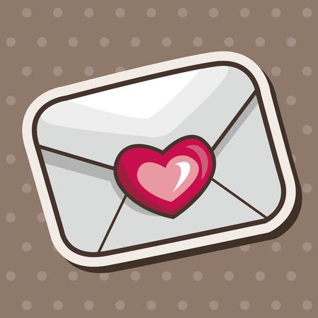 handwrite: love letter theme elements