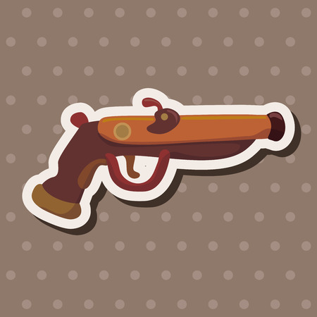 revolver: pirate weapon theme elements