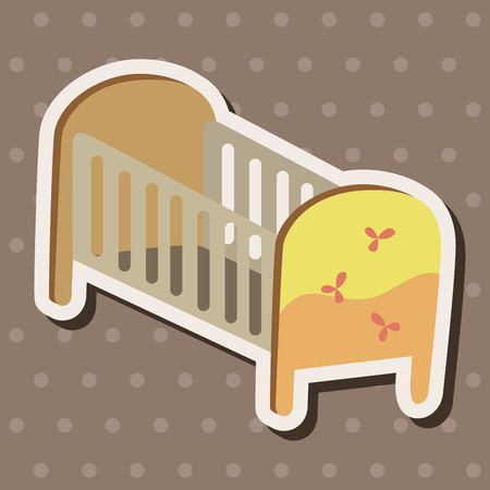 baby bed theme elements Vector