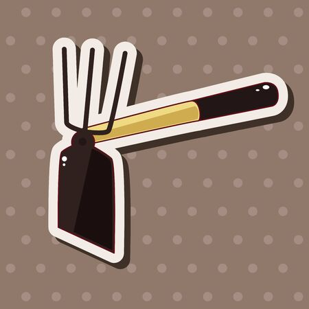 hand shovels: gardening shovel theme elements Illustration