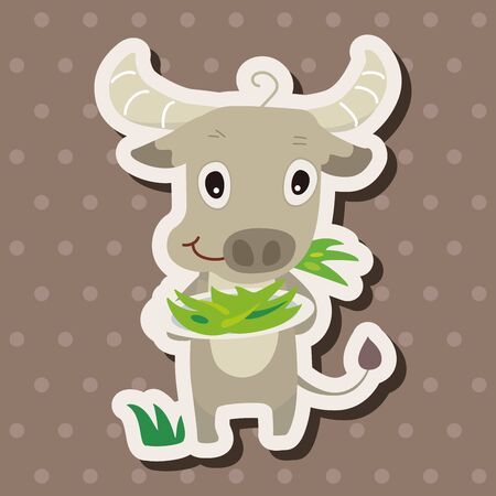 animal cattle cartoon theme elements 向量圖像